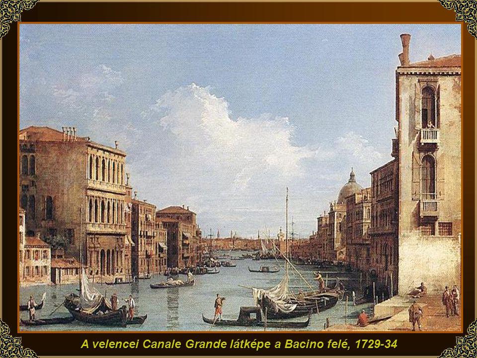 A velencei Piazza San Marco, az óratorony, c. 1730