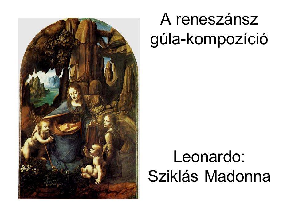 A reneszánsz gúla-kompozíció Leonardo: Sziklás Madonna