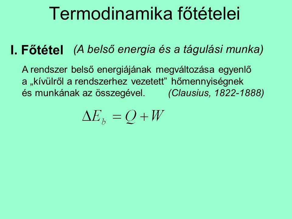 Termodinamika főtételei I.