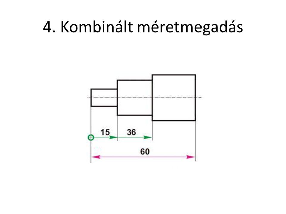 4. Kombinált méretmegadás
