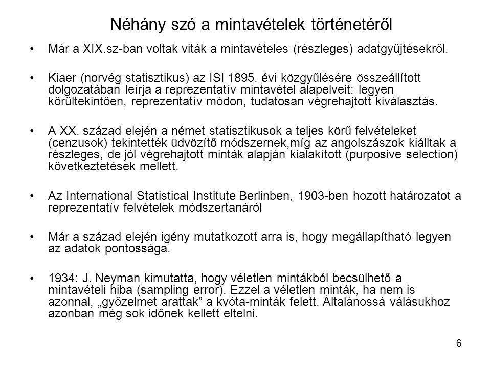 17 Leslie Kish válogatott bibliográfiája ( folytatás ) •Kish, L., and Frankel, M.