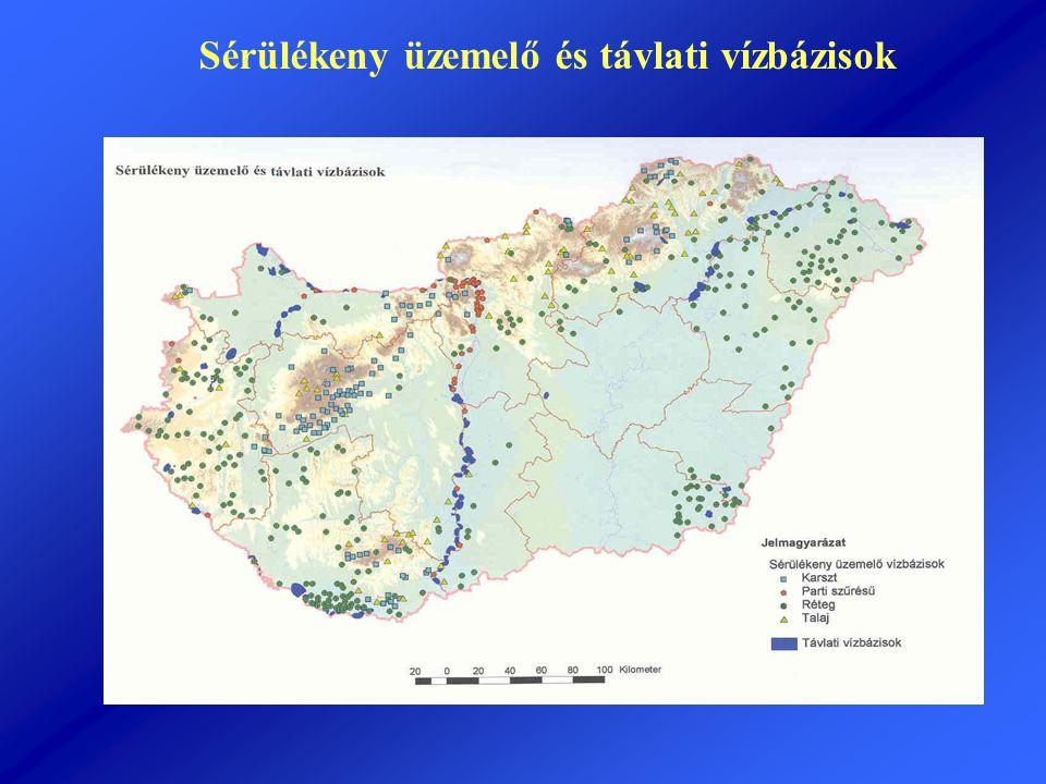 Sérülékeny üzemelő és távlati vízbázisok
