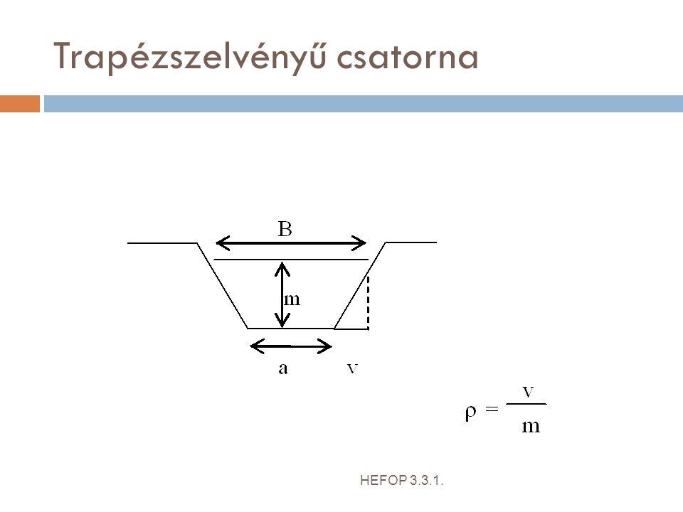 Trapézszelvényű csatorna HEFOP 3.3.1.