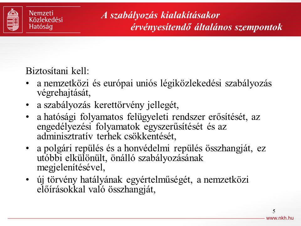 6 •nemzetközi előírásokkal nem harmonizáló fogalmak pontosítását, kiegészítését, •a végrehajtási jogszabályok megfelelő szintjét és az azokra vonatkozó egységes, jól értelmezhető felhatalmazásokat, •a Ket.