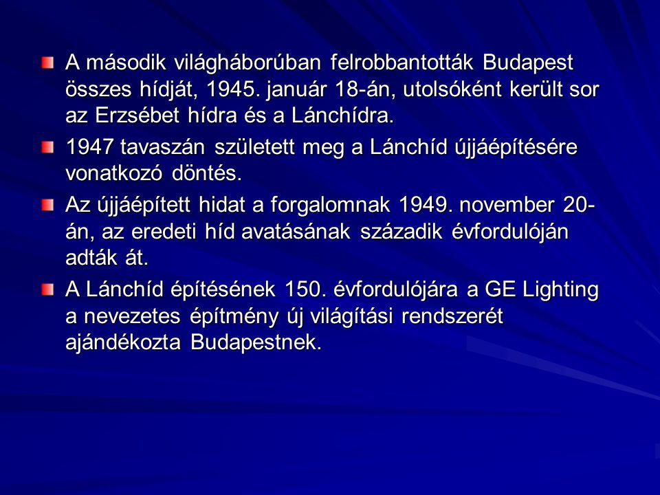 A második világháborúban felrobbantották Budapest összes hídját, 1945.