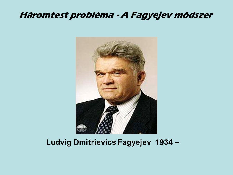 Ludvig Dmitrievics Fagyejev 1934 – Háromtest probléma - A Fagyejev módszer