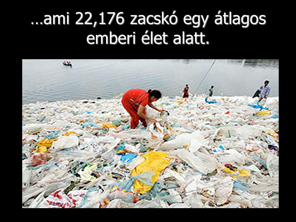 …ami 22,176 zacskó egy átlagos emberi élet alatt.
