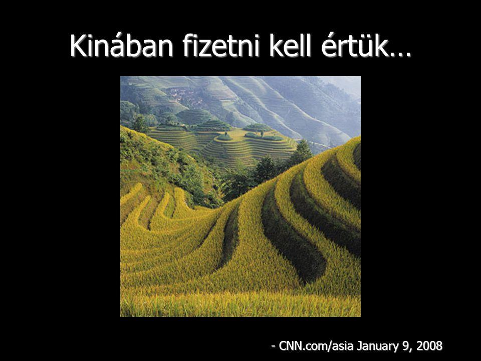 Kinában fizetni kell értük… - CNN.com/asia January 9, 2008