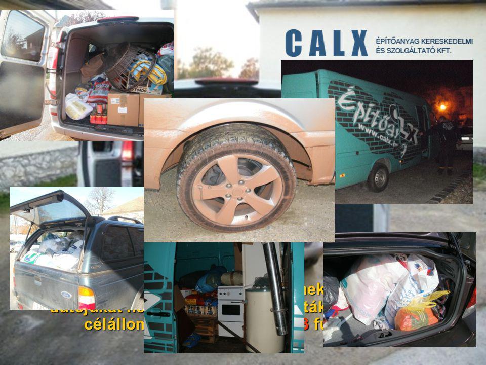 Külön köszönet azoknak a sofőröknek, akik idejüket és autójukat nem kímélve leszállították az adományokat célállomásukra.