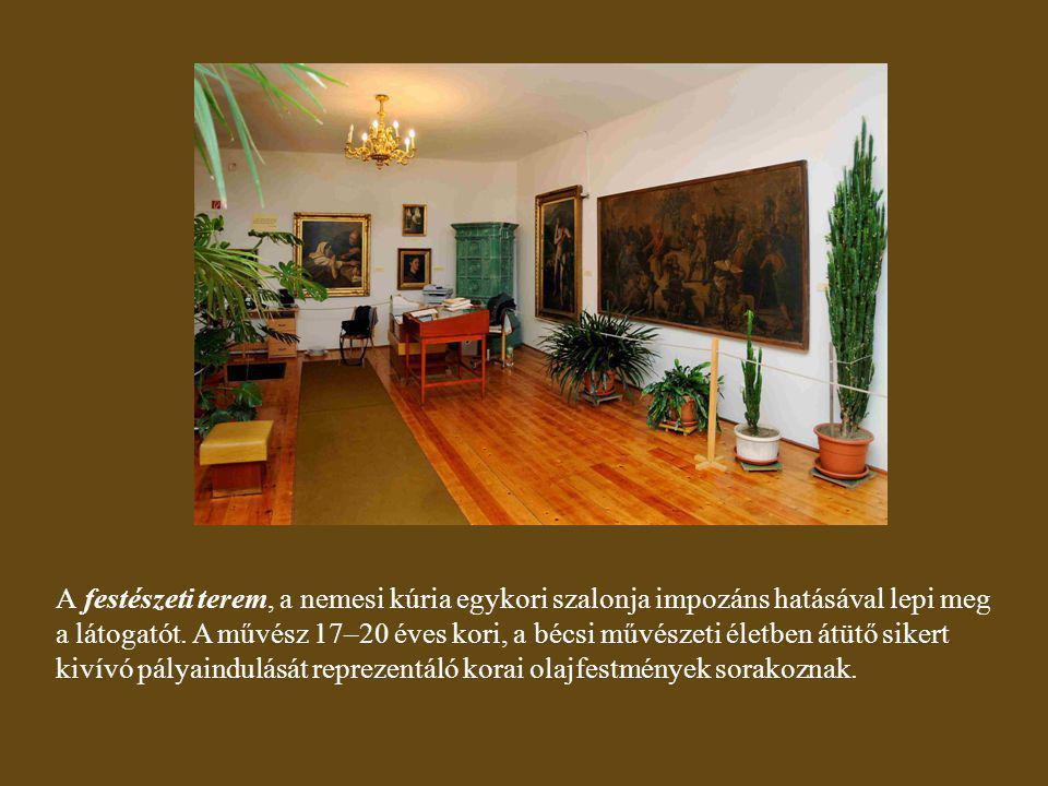 """Csicsery-Rónay István azt vallotta, hogy a Zichy Emlékház """"A pusztítás géniuszának diadala című festmény által a XX."""