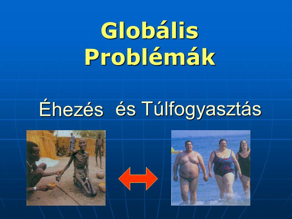 és Túlfogyasztás Globális Problémák Éhezés