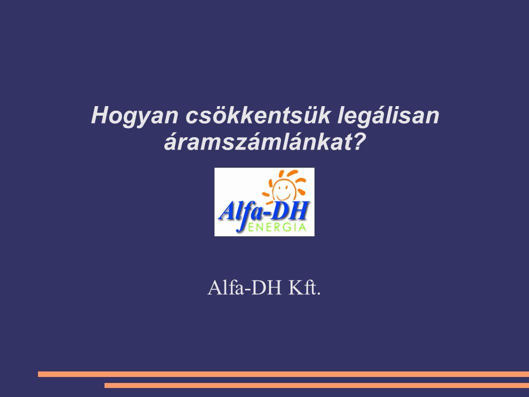 Hogyan csökkentsük legálisan áramszámlánkat? Alfa-DH Kft.