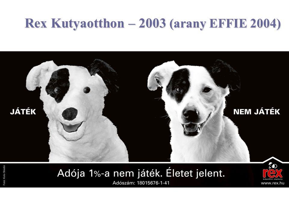 Rex Kutyaotthon – 2003 (arany EFFIE 2004)