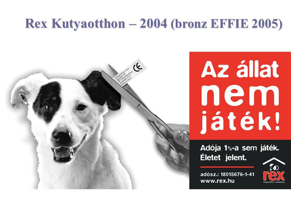 Rex Kutyaotthon – 2004 (bronz EFFIE 2005)