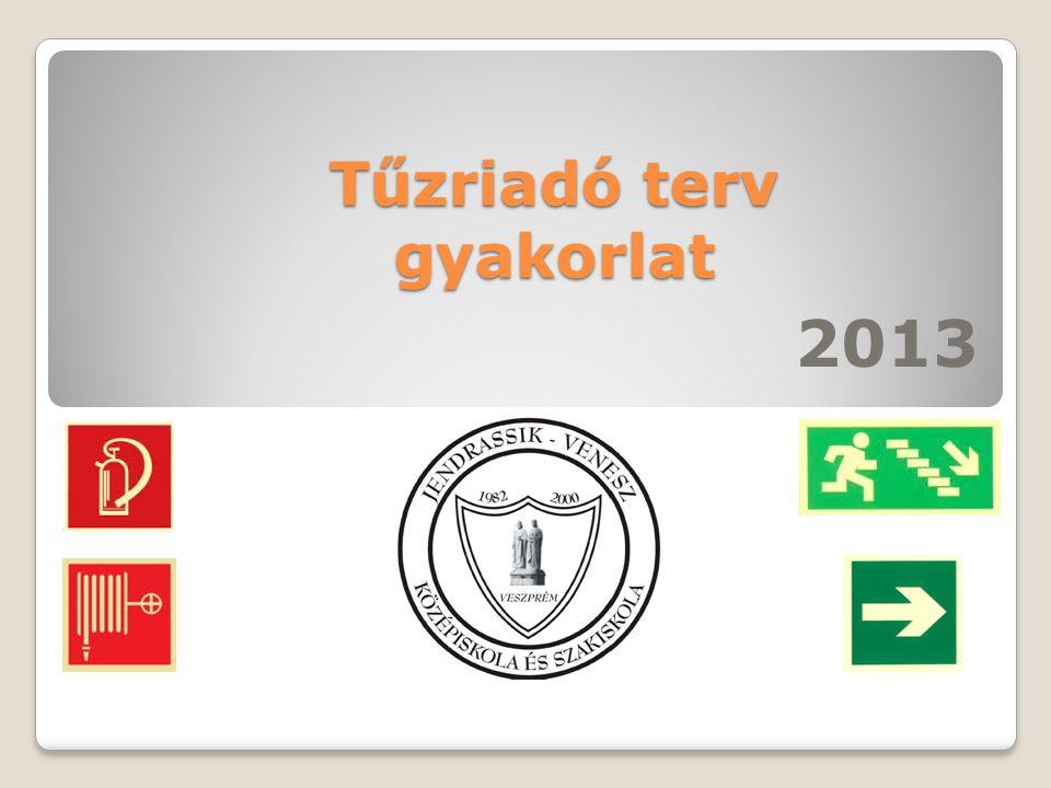 Tűzriadó terv gyakorlat 2013