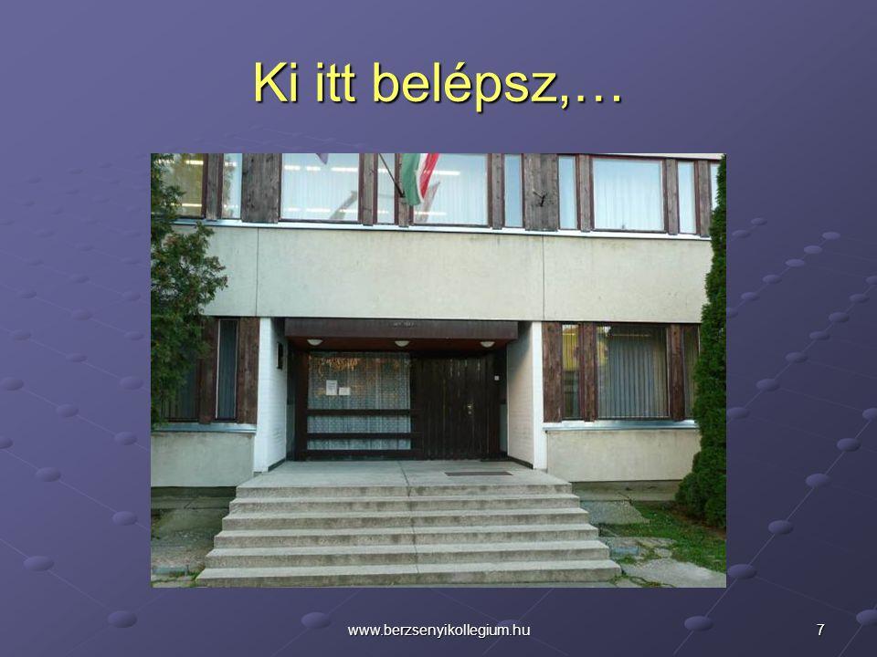 38www.berzsenyikollegium.hu A Kollégiumi Diákönkormányzat szervezésében Diáknapot tartunk áprilisban.
