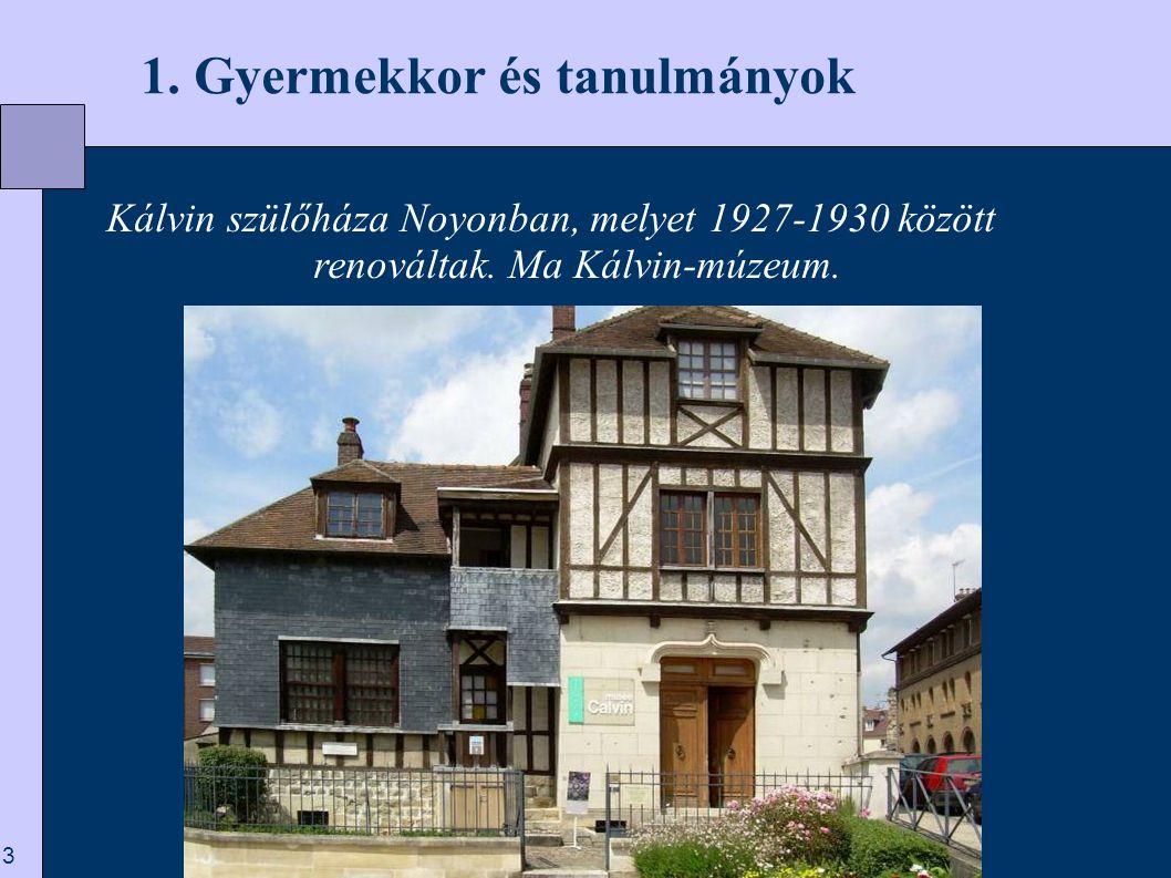 14  3. Kezdetek Genfben Genf – 1550.