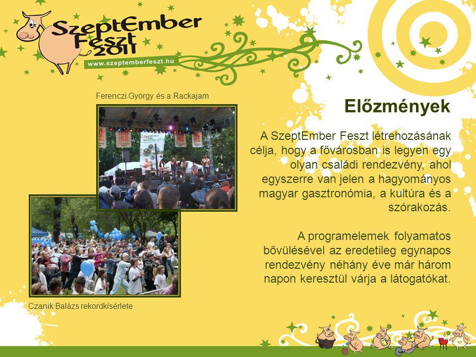 A SzeptEmber Feszt létrehozásának célja, hogy a fővárosban is legyen egy olyan családi rendezvény, ahol egyszerre van jelen a hagyományos magyar gaszt