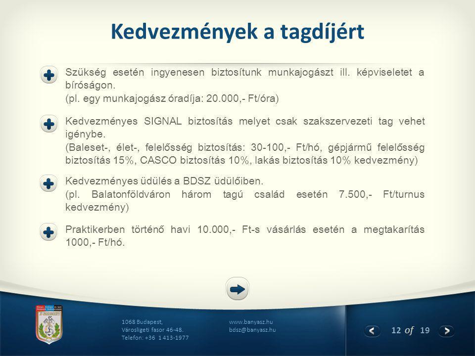 12 of 19 www.banyasz.hu bdsz@banyasz.hu 1068 Budapest, Városligeti fasor 46-48.