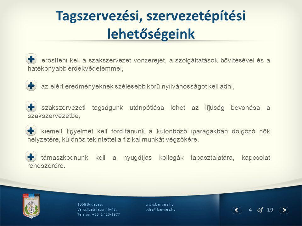 4 of 19 www.banyasz.hu bdsz@banyasz.hu 1068 Budapest, Városligeti fasor 46-48.