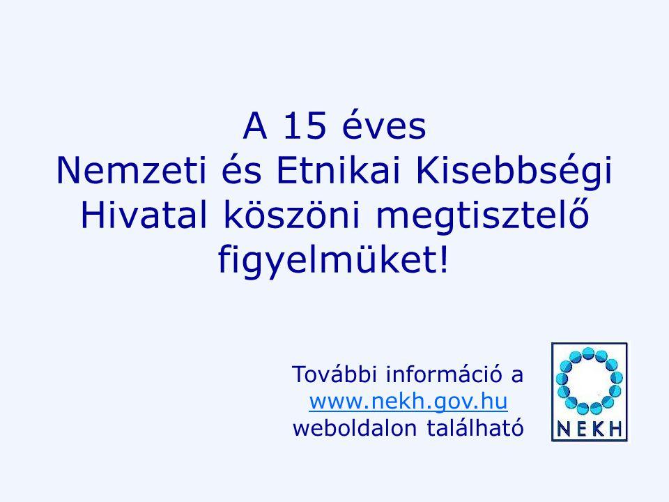 A 15 éves Nemzeti és Etnikai Kisebbségi Hivatal köszöni megtisztelő figyelmüket.