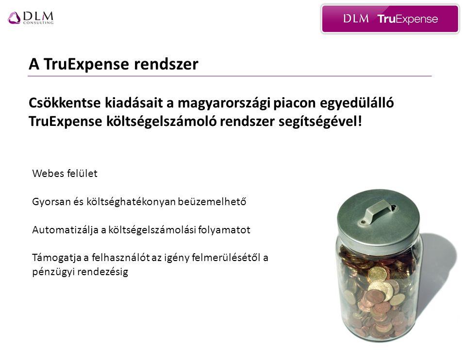 A TruExpense rendszer Csökkentse kiadásait a magyarországi piacon egyedülálló TruExpense költségelszámoló rendszer segítségével.