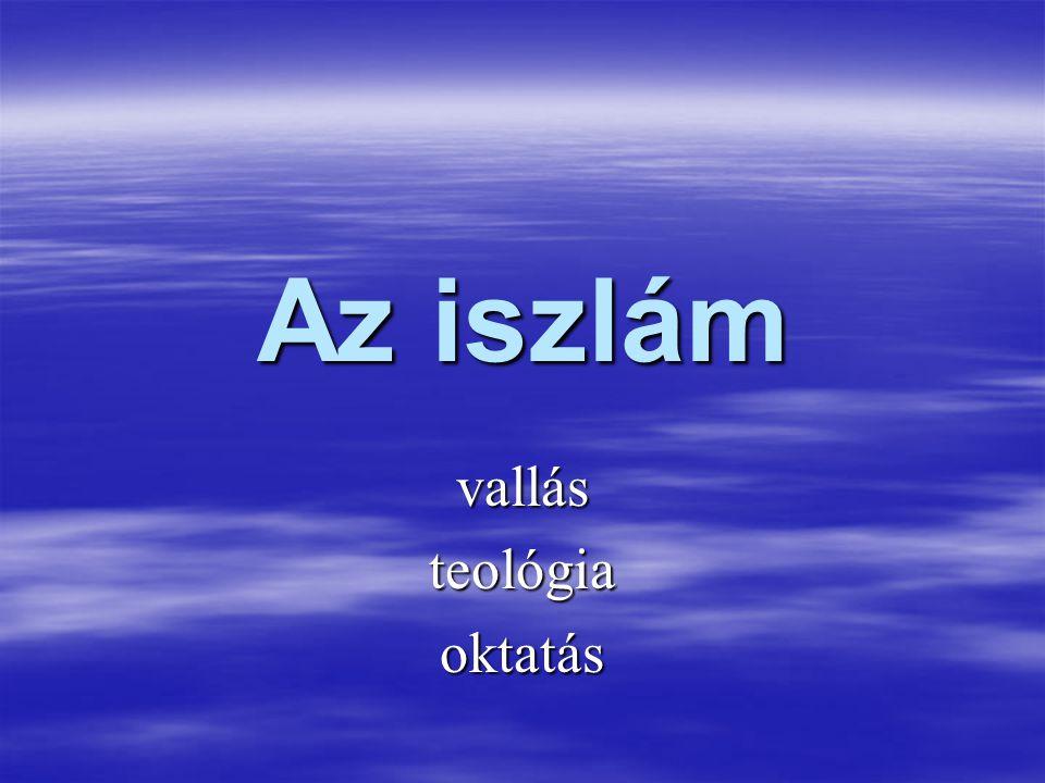 Az iszlám vallásteológiaoktatás
