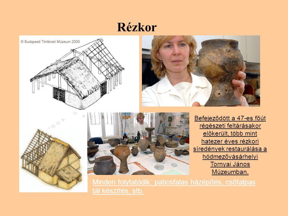 Rézkor Befejeződött a 47-es főút régészeti feltárásakor előkerült, több mint hatezer éves rézkori síredények restaurálása a hódmezővásárhelyi Tornyai János Múzeumban.