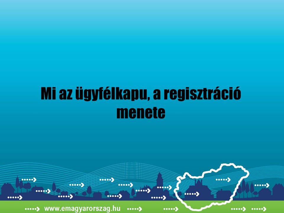 Mi az ügyfélkapu, a regisztráció menete