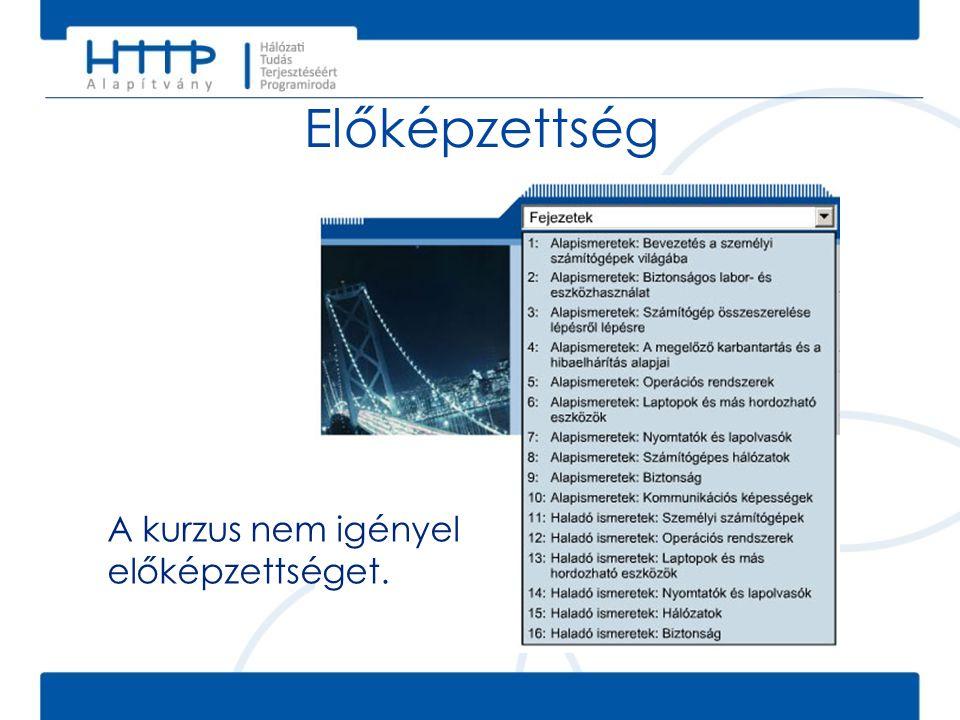 Vizsgák • Az IT alapismeretek: PC hardver és szoftver v4.0 tananyag segítségével a hallgatók különböző CompTIA A+ vizsgákra (www.comptia.org) készülhetnek fel.