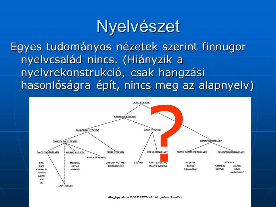 Nyelvészet Egyes tudományos nézetek szerint finnugor nyelvcsalád nincs.
