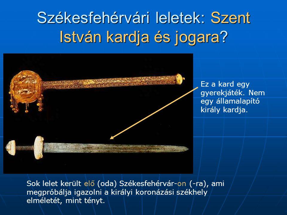 Székesfehérvári leletek: Szent István kardja és jogara.