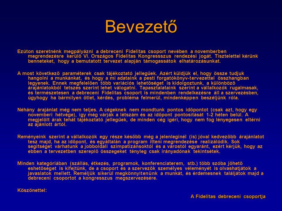 VI. KONGRESSZUS Programtervezet Készítette: Szabó Orsolya