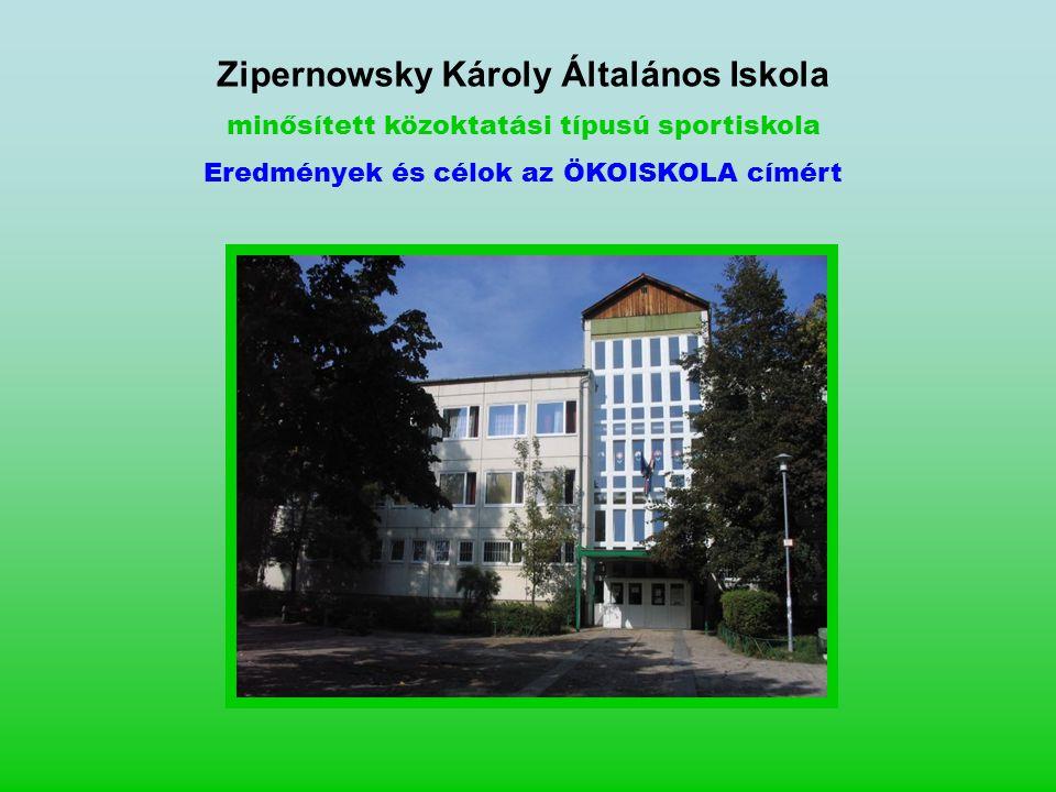 Zipernowsky Károly Általános Iskola minősített közoktatási típusú sportiskola Eredmények és célok az ÖKOISKOLA címért