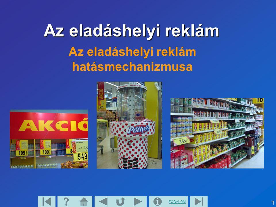 FOGALOM 1 Az eladáshelyi reklám hatásmechanizmusa Az eladáshelyi reklám