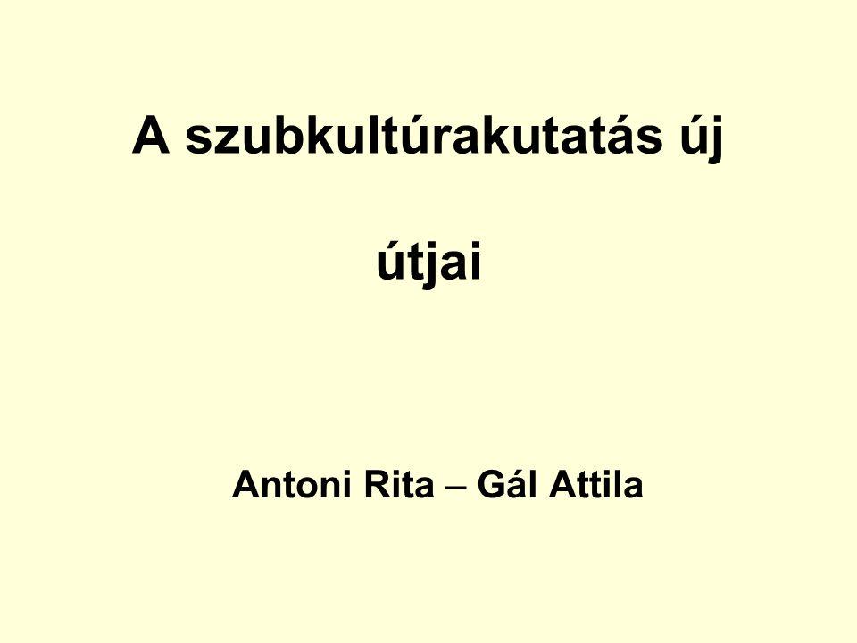 A szubkultúrakutatás új útjai Antoni Rita – Gál Attila