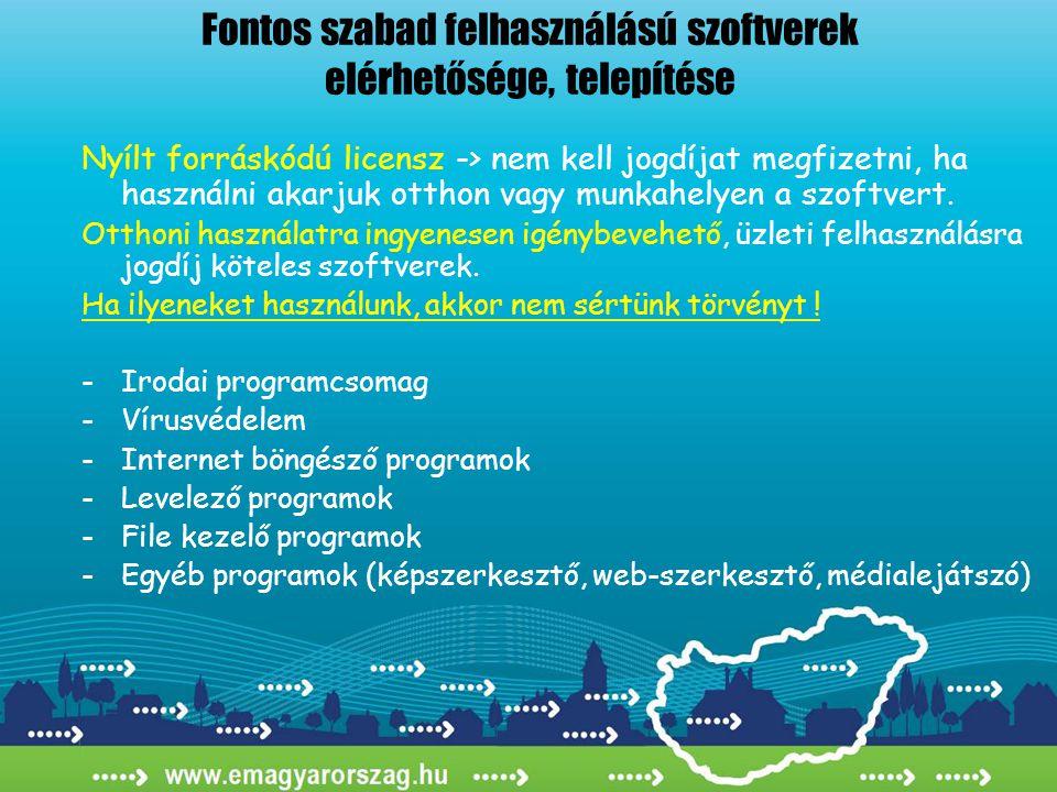 Nyílt forráskódú licensz -> nem kell jogdíjat megfizetni, ha használni akarjuk otthon vagy munkahelyen a szoftvert. Otthoni használatra ingyenesen igé