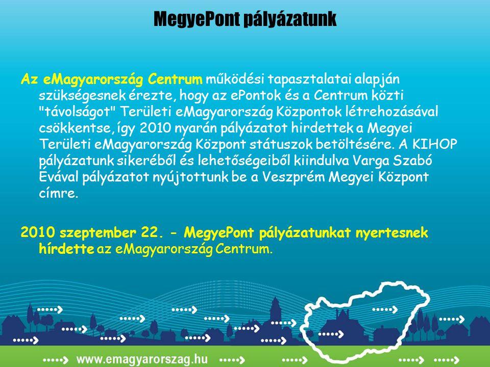 Az eMagyarország Centrum működési tapasztalatai alapján szükségesnek érezte, hogy az ePontok és a Centrum közti