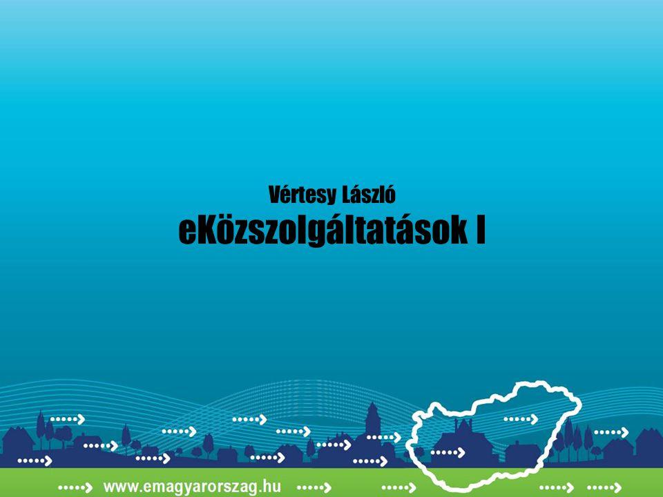 Vértesy László eKözszolgáltatások I