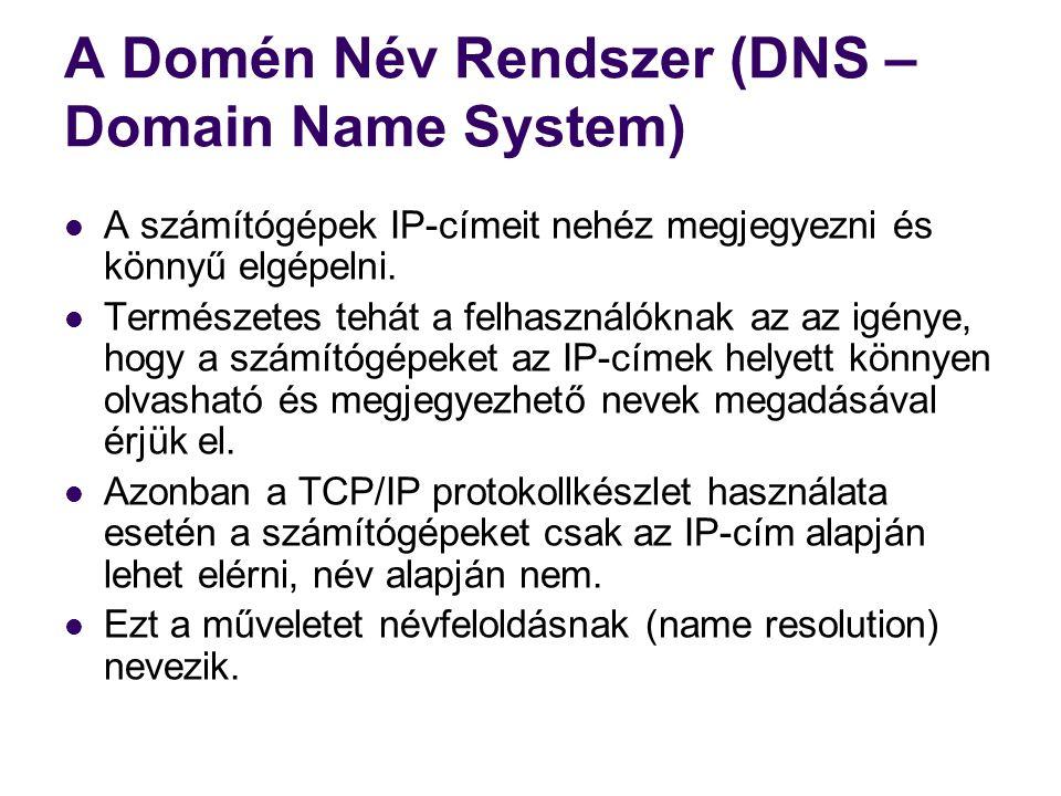 Névfeloldás A névfeloldás alapvetően háromféleképpen történhet:  1.