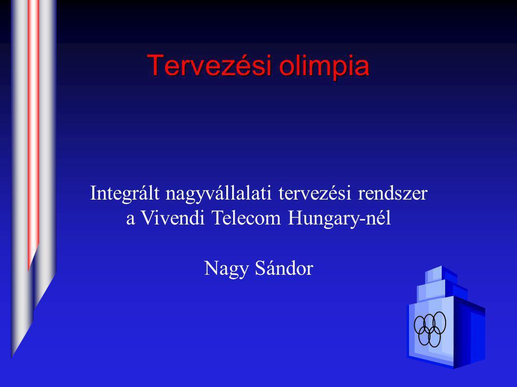 Tervezési olimpia Integrált nagyvállalati tervezési rendszer a Vivendi Telecom Hungary-nél Nagy Sándor