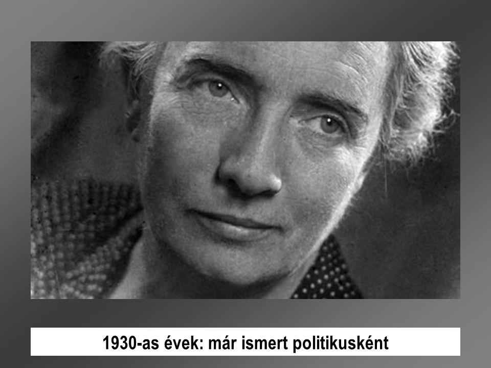 1930-as évek: már ismert politikusként