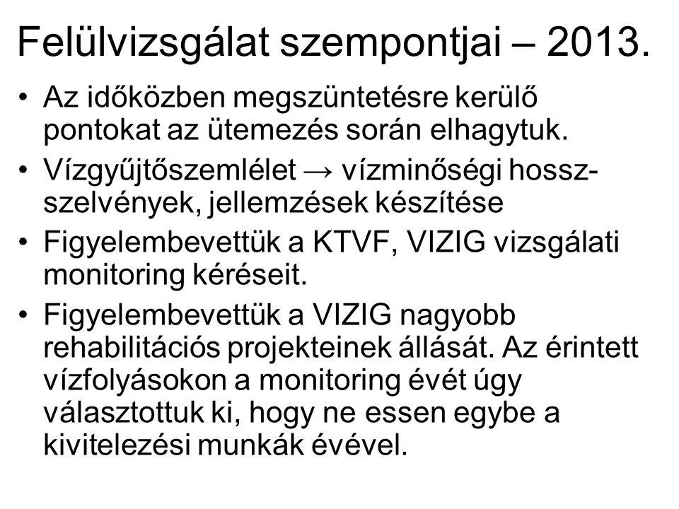 Felülvizsgálat szempontjai – 2013.