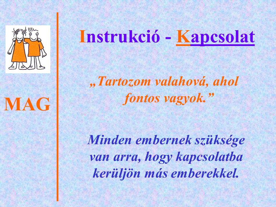 MAG Instrukció - Kapcsolat A pedagógus és a tanulók kölcsönösen befolyásolják egymás viselkedését.