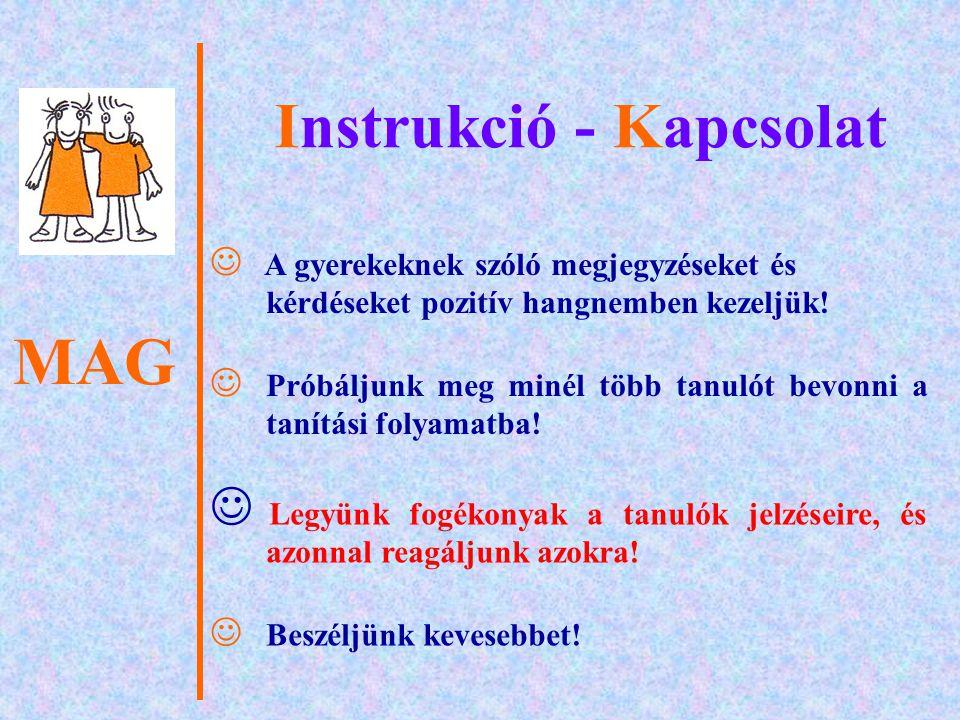 MAG Instrukció - Kapcsolat 4.