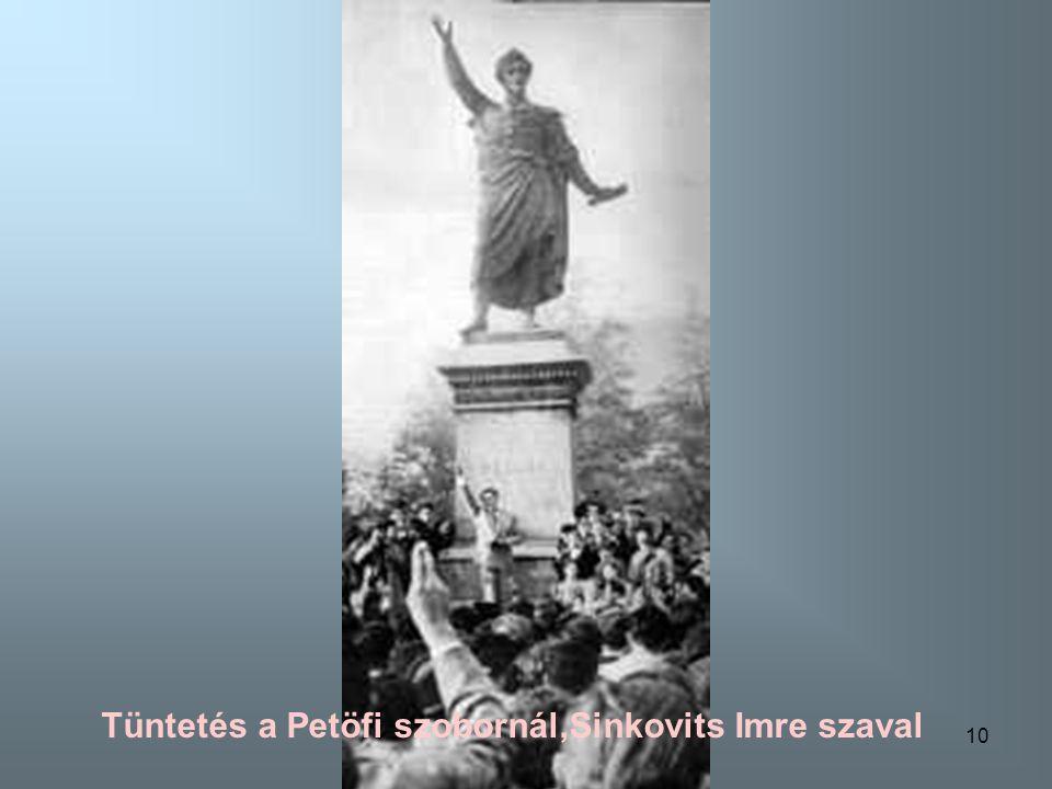 9 Tüntetés a Petöfi szobornál Kaposvárott
