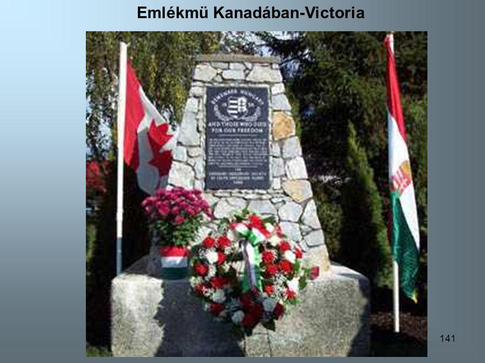 141 Emlékmü Kanadában-Victoria