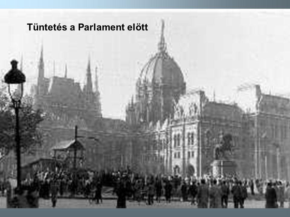 7 Tüntetés a Parlament elött Okt.25-én