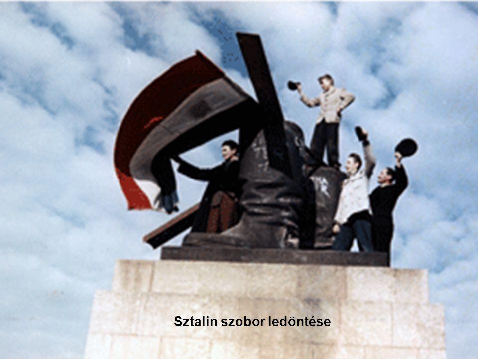 95 Sztalin szobor ledöntése
