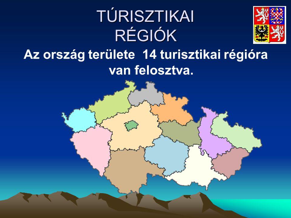TÚRISZTIKAI RÉGIÓK Az ország területe 14 turisztikai régióra van felosztva.